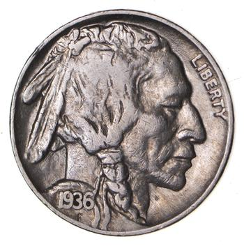 FULL HORN - High Grade - TOUGH - 1936 Buffalo Nickel - Sharp Coin!