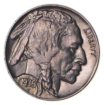 FULL HORN - High Grade - TOUGH - 1936 Buffalo Nickel - Sharp Coin!