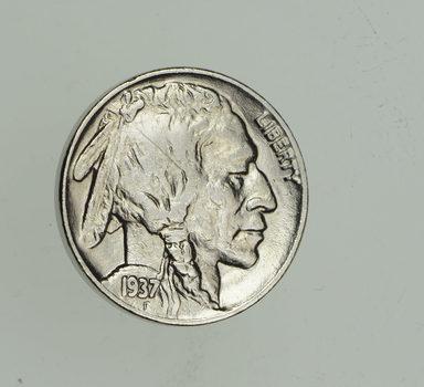 FULL HORN - High Grade - TOUGH - 1937 Buffalo Nickel - Sharp Coin!