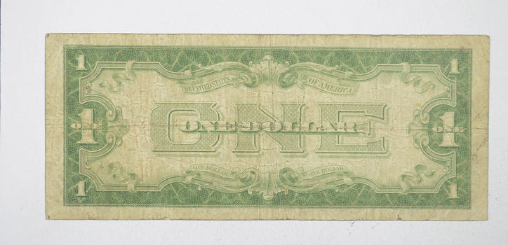 FUNNY BACK - 1934 $1.00 - Silver Certificate - Monopoly Money - Very Collectible
