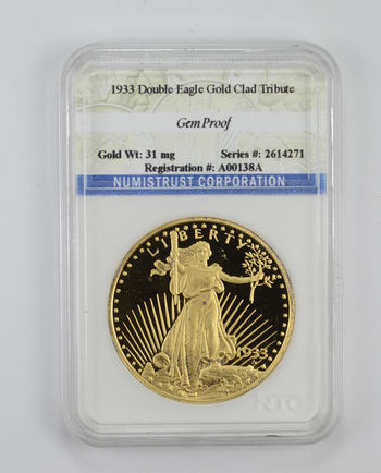 Gem Proof 1933 Double Eagle Gold Clad Tribute - Graded NTC