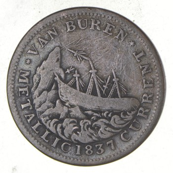 Genuine 1837 Hard Times Token - Very Tough to Find - US History