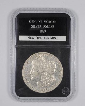 Genuine 1889-O Morgan Silver Dollar - Graded PCS