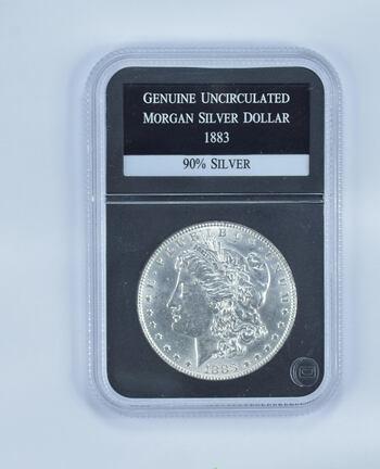 GENUINE UNC 1883 Morgan Silver DOllar - Slabbed PCS