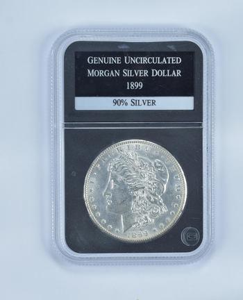GENUINE UNC 1899 Morgan Silver Dollar - Slabbed PCS