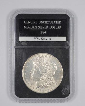 Genuine Uncirculated 1884 Morgan Silver Dollar - Graded PCS