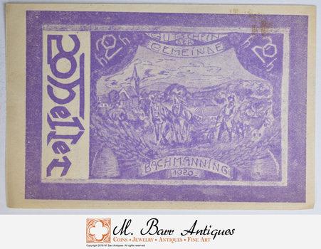 German - Notgeld Note - Historic - 1920's/30's Era - Great Art