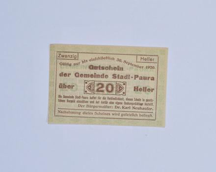 German - Notgeld Note - Historic - 1920's/30's Era - Great Art WWI