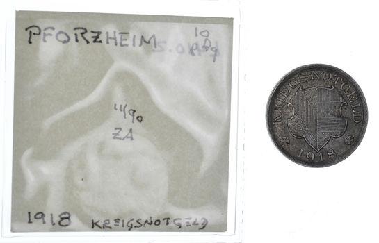 GERMANY States: 1918 Pforzheim 10 Pfennig