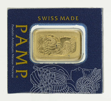 GOLD Bar PAMP Swiss Made 1g AU 999.9 Bar