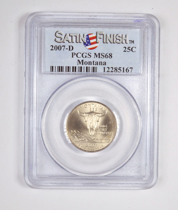 GRADED 2007-D Montana State Quarter MS68 - PCGS Professional Graded and Authenticated!