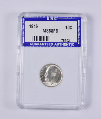 GRADED MS68FB - 1946 Roosevelt Dime - Graded by Unc Coins