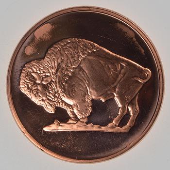 Grazing Buffalo - Copper 1 Oz Round - .999 Fine
