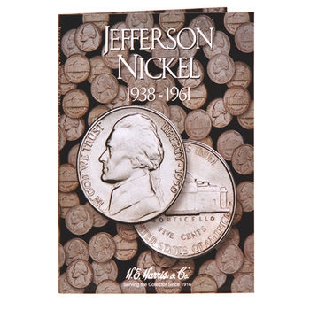 H.E. Harris Jefferson Nickels #1 Folder 1938-1961 - Coin Collector Album
