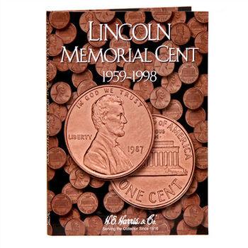H.E. Harris Lincoln Memorial Folder 1959-1998 - Coin Collector Album