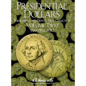 H.E. Harris Presidential Dollar Folder #2 2012-2016 P&D - Coin Collector Album