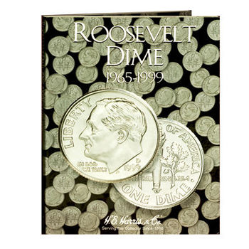 H.E. Harris Roosevelt Dimes #2 Folder 1965-1999 - Coin Collector Album