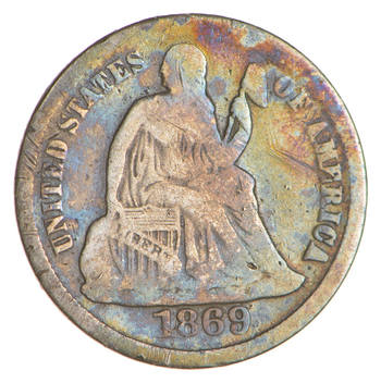Historic 1869-S Seated Liberty Dime