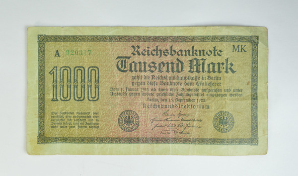 Historic - Germany 1920's Era - Extra Large Size - Currency