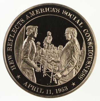 Historic High Relief Bronze Medallion - Franklin Mint