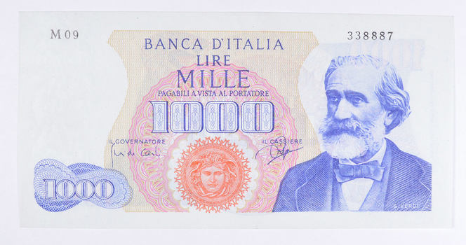 Historic Italian Paper Money Currency - Interesting Note from Italy