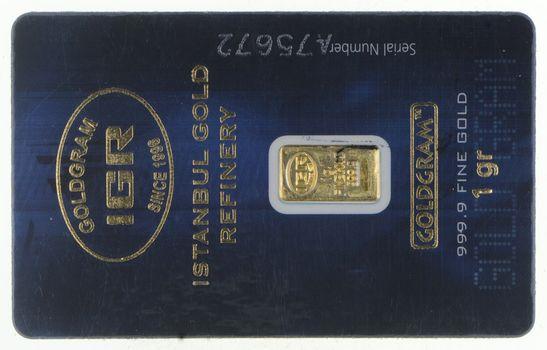 Istanbul Gold Refinery Goldgram 1 Gram Bar - In Original Packaging