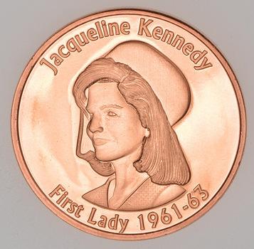 Jackie Kennedy - Political Series - 1 Oz .999 Fine Copper Round