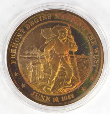June 10, 1842 Fremont Begins Mapping The West - Bronze Historic Commemorative Medal
