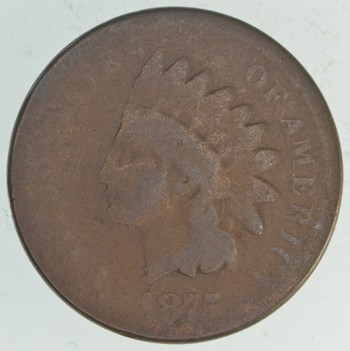 KEY DATE 1875 Indian Head Cent - *** High Book Value!