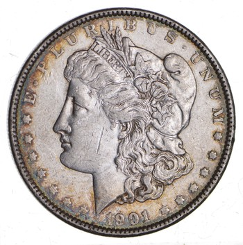 KEY DATE 1901 Morgan Silver Dollar - RARE - Better Grade - Look at price guide!