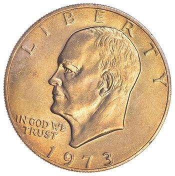 Key Date - 1973 Eisenhower Dollar - Ch BU