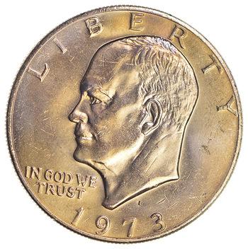 Key Date - 1973-D Eisenhower Dollar - Ch BU