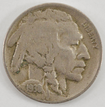 LAST Year 1938-D Buffalo Nickel - Unchecked for varieties - Tough