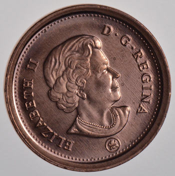 Last Year of Issue - 2012 Canada One Cent - Brilliant Uncirculated - Cherry!
