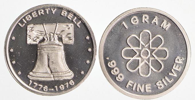 Liberty Bell - 1 Gram .999 Fine Silver - Custom Designed Silver Round
