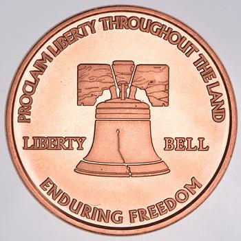 Liberty Bell - 1 Oz .999 Fine Copper Round