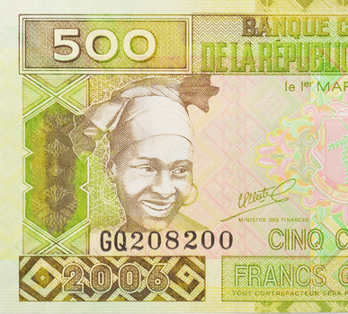 Limited Edition African Bank Of Guinea Cinq Cents Guineens Note - Uncirculated Foreign Collectable Note