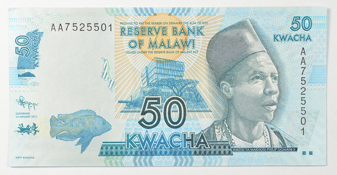 Limited Edition African Reserve Bank Of Malawi FiftyKwacha Note -Uncirculated Foreign CollectableNote