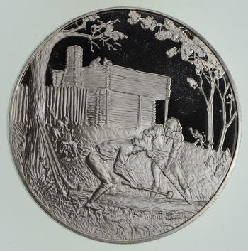 Limited Edition-Postmasters Of America - 1974 No. 11 .925 Sterling Silver Medallion 24.7 Grams
