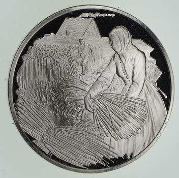 Limited Edition-Postmasters Of America - 1974 No. 15 .925 Sterling Silver Medallion 25.1 Grams