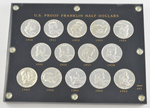 Lot (14) 1950-1963 Franklin Half Dollars - Proof Complete Set