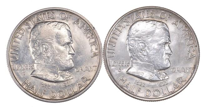 Lot (2) 1922 Ulysses S. Grant Commemorative Half Dollars