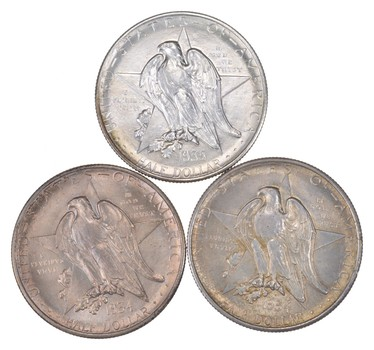 Lot (3) 1934 & 1935-S Texas Centennial Commemorative Half Dollars - Uncirculated