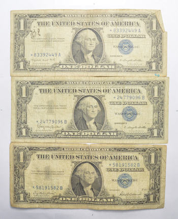 Lot Error Replacement Notes 1957 1957-A 1957-B $1 Silver Certificate STAR