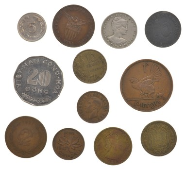 Lot Mixed World Coins 50-100 Years Old - Collection Bulk Great History