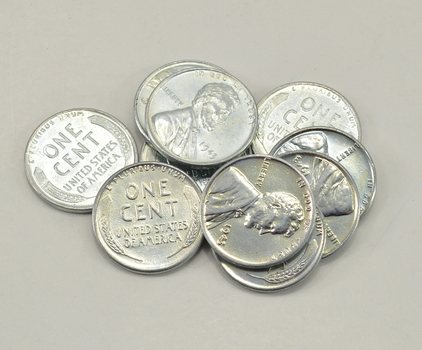 Lot of 10 High Grade 1943 Steel Cents - WWII War Era Coinage - Only year made of STEEL!