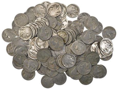Lot of 100 Buffalo Head Nickels (1913-38 Era) - Bulk Lot - No Dates