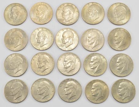 Lot of 20 -1776-1976 BicentennialClad Eisenhower Dollars - 1776-1976 Bicentennial One YearVariety