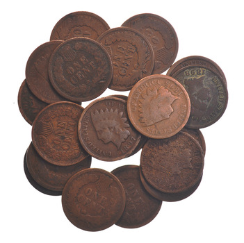 Lot of 20 - 1890's Circulated Indian Head Cents - Twenty Coins Total