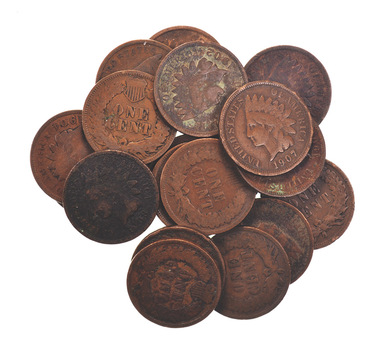 Lot of 20 - 1900's Circulated Indian Head Cents - Twenty Coins Total